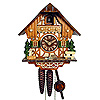 Cuckoo Clock: 1-Day Timberframe Chalet with bench and well