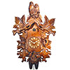 Cuckoo Clock: 8-Day Carving Clock: The Owl Pair